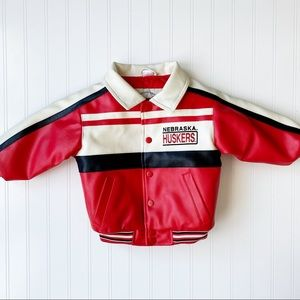 Vintage Nebraska Huskers Kids Bomber Jacket